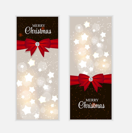 Christmas Website Banner and Card Background Illustration Vector
