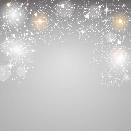 x mas: Christmas Glossy Star Background Illustration