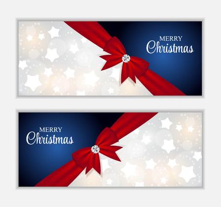 banner website: Kerst Website Banner en kaart achtergrond