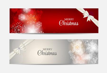 Fiocchi di neve di Natale Sito Intestazione e Banner Set Sfondo Ve