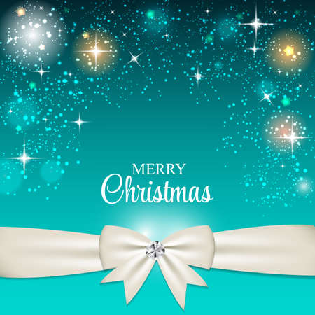 x mas: Christmas Glossy Star Background with Ribbon Vector Illustration Illustration