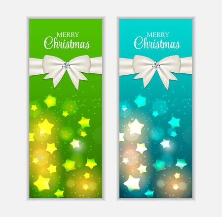 banner website: Kerst Website Banner en kaart achtergrond vector illustratie