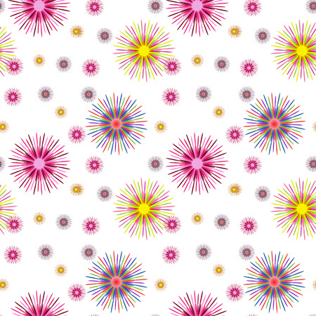 revivalism: Colorful Abstract Art Psychedelic Background.  Seamless pattern. Illustration