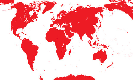 Map Of The World.  Vector