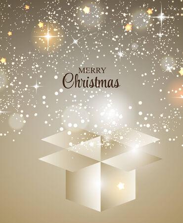 Christmas Glossy Star Background