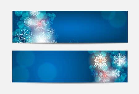 banner website: Kerst Sneeuwvlokken Website Banner en Achtergrond van de Kaart