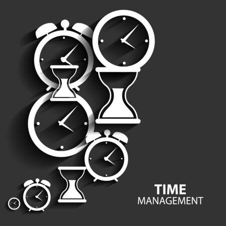 time management: Modern Flat Time Management