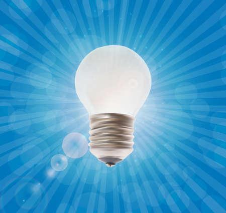 compact fluorescent lightbulb: White lightbulb.