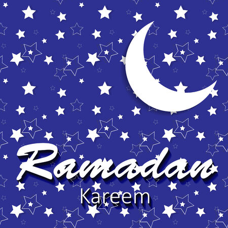 namaz: Moon Background for Muslim Community Festival