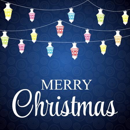 technique: Christmas Glossy Star Background.   Illustration