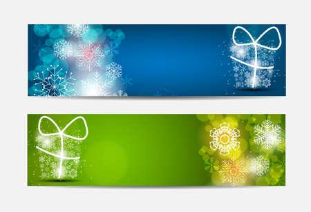 banner website: Kerst Sneeuwvlokken Website Banner en kaart achtergrond vectorillustrationEPS10