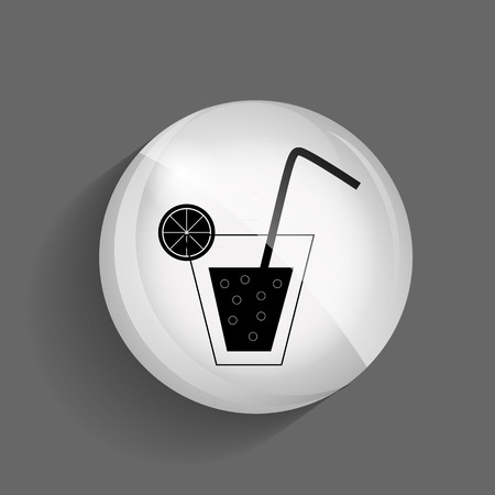 Drink Glossy Icon Vector Illustration EPS10 Vector