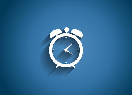 alarm: Time Glossy Icon Vector Illustration EPS10 Illustration