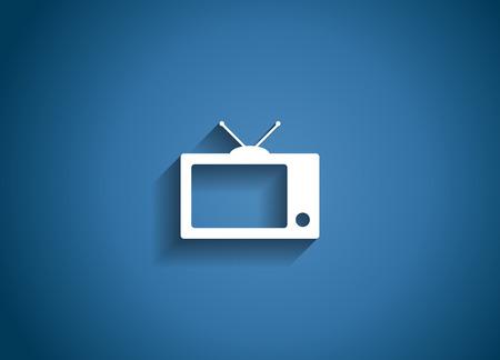 TV Glossy Icon Vector Illustration Vector