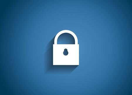 Security Glossy Icon Vector Illustration Vector