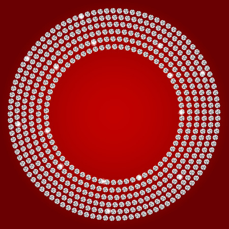 multi layered effect: Abstract beautiful diamond background vector illustration Illustration