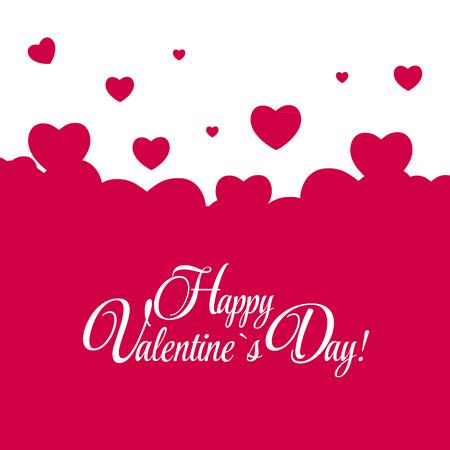 心と幸せなバレンタインの日カード。ベクトル イラスト