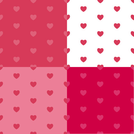 Happy Valentines Day Seamless Pattern Background with Heart. Vec Vector