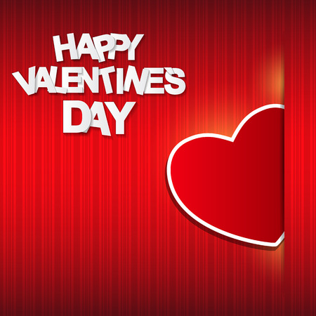 small group of objects: Happy Valentines Day Card. Vector Illustration