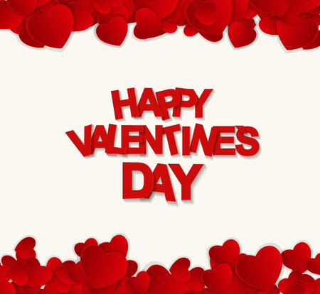 Šťastný Valentines Day Card. Vektorové ilustrace Ilustrace