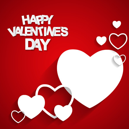 2 objects: Happy Valentines Day Card. Vector Illustration