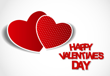 two dimensional shape: Happy Valentines Day Card. Vector Illustration