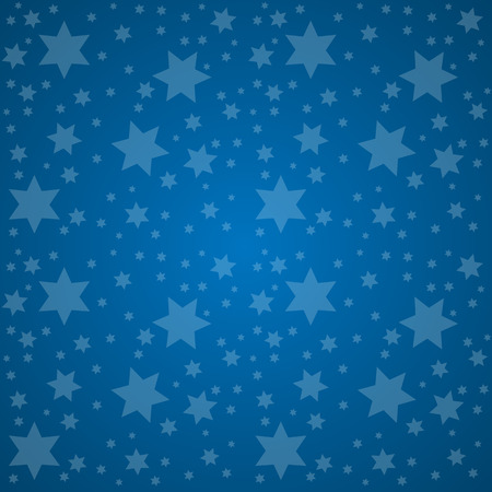 good night: Starry Sky. Good Night Concept Vector Illustration. Illustration