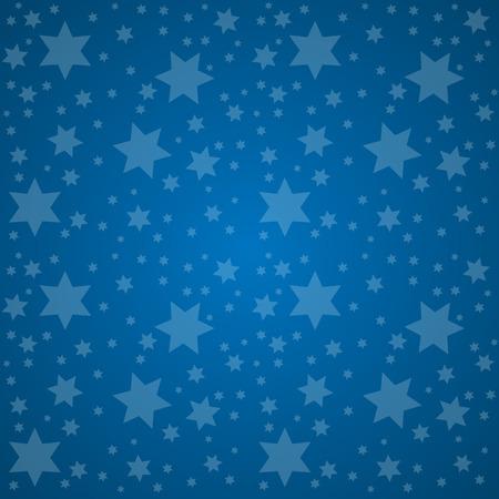 buonanotte: Starry Sky. Good Night concetto illustrazione vettoriale. Vettoriali