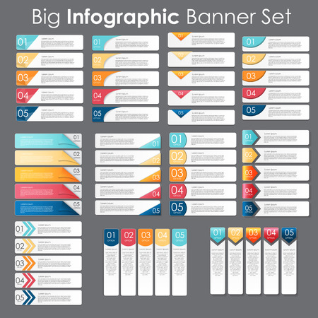 Grote set van Infographic Banner sjablonen voor uw bedrijf Vector