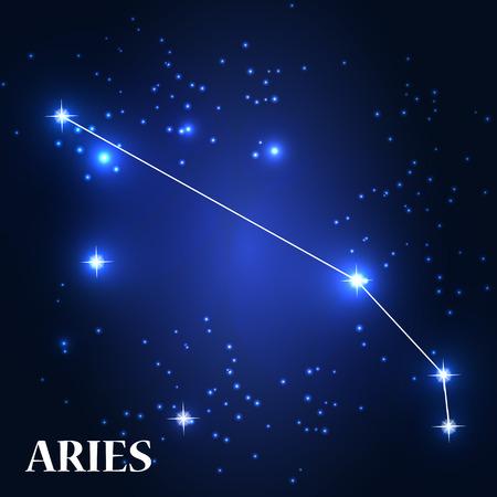 aries zodiac: Symbol: Aries Zodiac Sign. Vector Illustration.