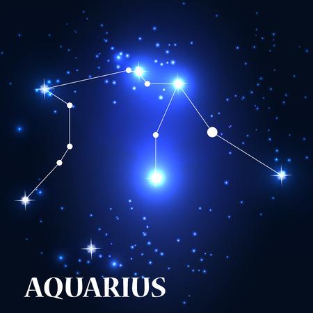 traits: Symbol: Aquarius Zodiac Sign. Vector Illustration. Illustration
