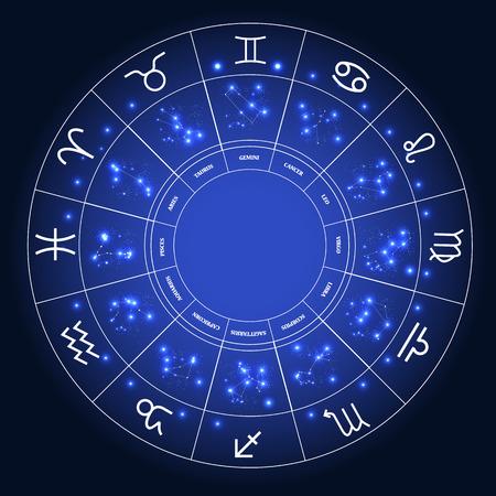 number 12: Set of Symbol Zodiac Sign. Vector Illustration.