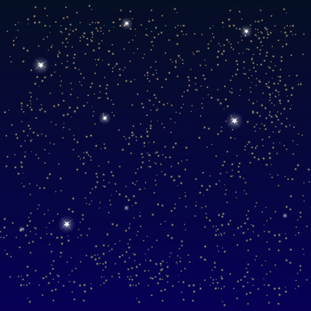 Space. Starry Sky with the Moon. Vector Illustration. Stock Illustratie