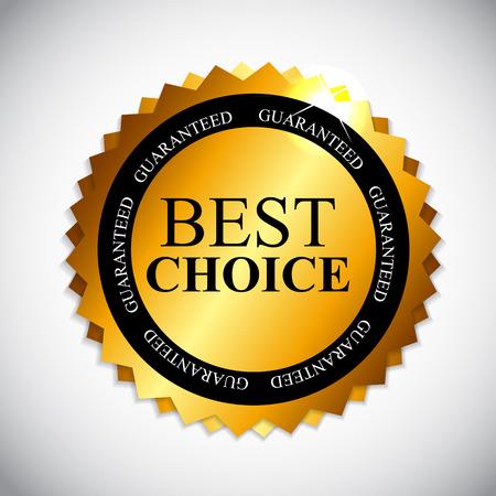 Best Choice Golden Label  Vector Illustration