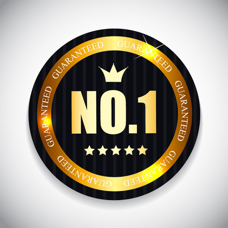 no1: No.1 Golden Label  Vector Illustration