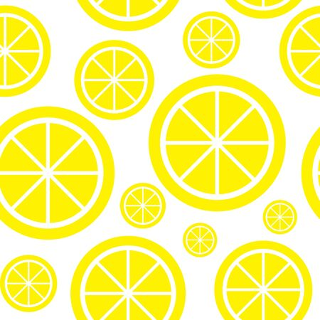Lemon Fruit Abstract Seamless Pattern Background Vector Illustration EPS10 Vector