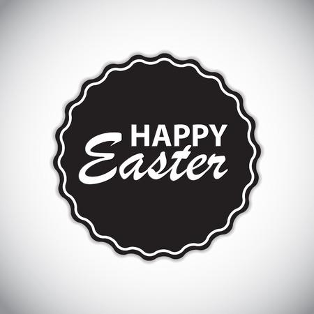 Happy Easter Label Vector Illustration EPS10