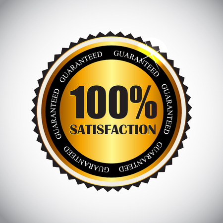 100 % Satisfaction Golden Label Vector Illustration Vector