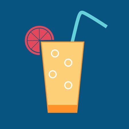 managment: Drink Glossy Icon Vector Illustration EPS10