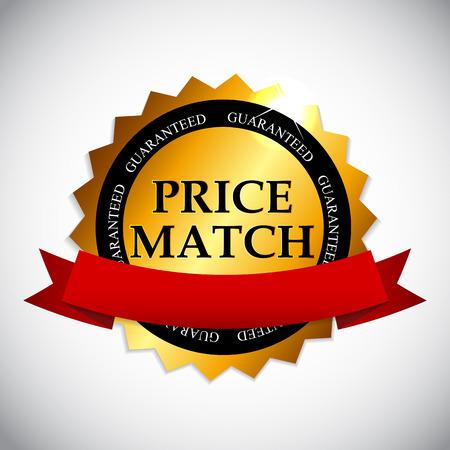 Price Match Label Vector Illustration EPS10 Illustration