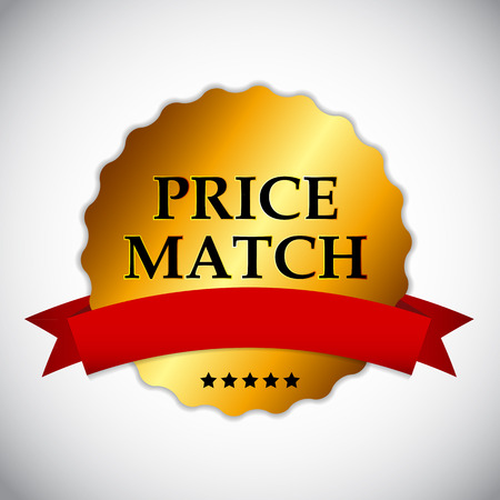 Price Match Label Vector Illustration EPS10 Illustration