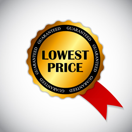 lowest: Lowest Price Label Vector Illustration EPS10