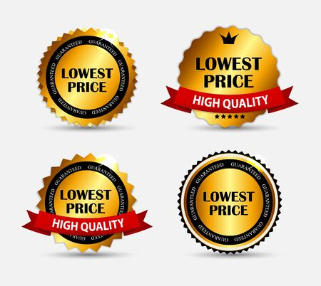lowest: Lowest Price Label Set Vector Illustration EPS10 Illustration