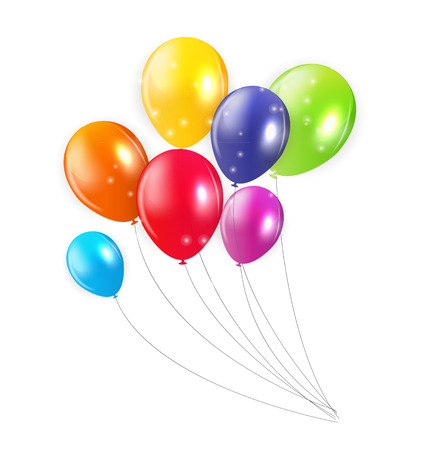 colored balloons: Set of Colored Balloons, Illustration. Illustration