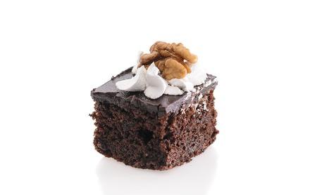 custard slices: Fresh and Sweet Dessert Cakes Isolated on White Background