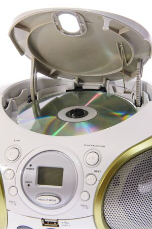 portable audio: Portable MP3, CD, DVD Audio. Isolated
