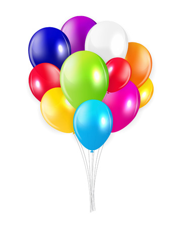 colored balloons: Set of Colored Balloons, Vector Illustration.