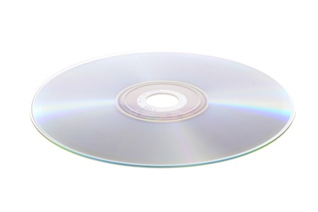 DVD, CD Isolated on White Background photo