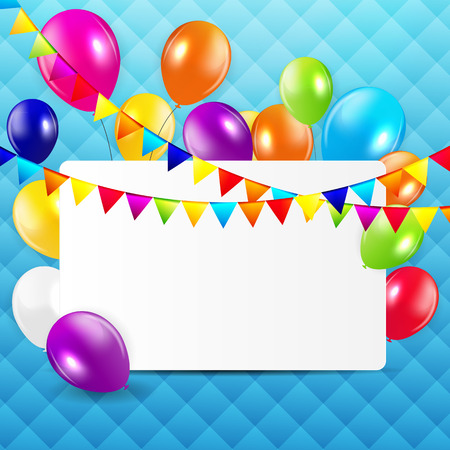 Colored Balloons Background, Vector Illustration. Vector
