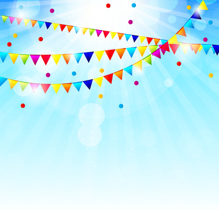 balloons celebration: Colored Balloons Background, Vector Illustration.